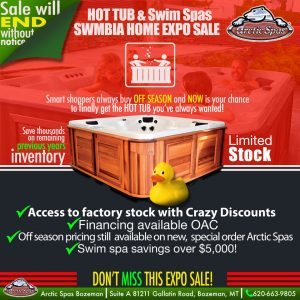 hot tub & swim spa swmbia home expo sale